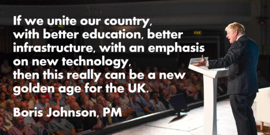 If we Unite Our Country this Really Can be a New Golden Age for the UK – Boris Johnson, PM