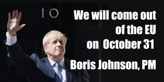 We Will Come Out of the EU on October 31 - Boris Johnson, PM