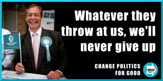 Whatever They Throw at us, We'll Never Give Up - Nigel Farage