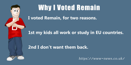 Why I Voted Remain Brexit Joke