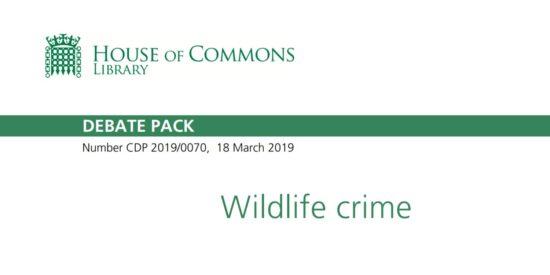 Wildlife Crime March 2019 Debate Pack
